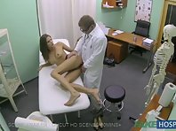 Naked girl in medical center has been fucked